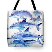 Porpoise Play Tote Bag by Carey Chen
