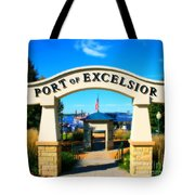 Port Of Excelsior Tote Bag by Perry Webster
