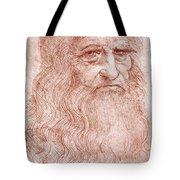 Portrait Of A Bearded Man Tote Bag by Leonardo da Vinci