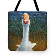 Portrait Of A Goose Tote Bag by James W Johnson