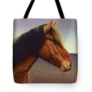 Portrait Of A Horse Tote Bag by James W Johnson
