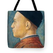 Portrait of a Man Tote Bag by Andrea Mantegna
