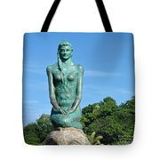 Portrait Of A Mermaid Tote Bag by Michelle Wiarda