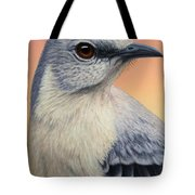Portrait Of A Mockingbird Tote Bag by James W Johnson