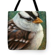 Portrait Of A Sparrow Tote Bag by James W Johnson