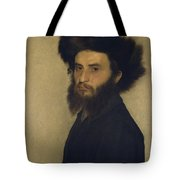 Portrait Of A Young Jewish Man  Tote Bag by Isidor Kaufmann