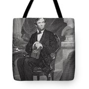 Portrait Of Abraham Lincoln Tote Bag by Alonzo Chappel