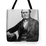 Portrait Of Charles Darwin Tote Bag by English Photographer