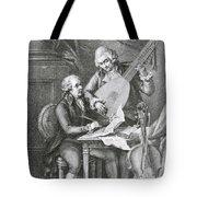 Portrait Of Franz Joseph Haydn Tote Bag by John Francis Rigaud