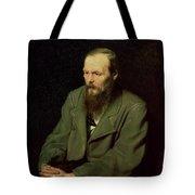 Portrait Of Fyodor Dostoyevsky Tote Bag by Vasili Grigorevich Perov