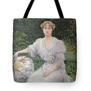 Portrait Of Marguerite Durand Tote Bag by Jules Cayron