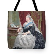 Portrait Of Queen Victoria Tote Bag by English School