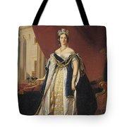 Portrait Of Queen Victoria In Coronation Robes Tote Bag by Franz Xaver Winterhalter