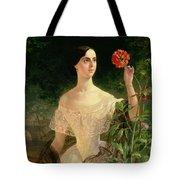 Portrait of Sofia Andreyevna Shuvalova Tote Bag by Karl Pavlovich Bryullov