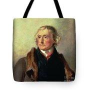 Portrait Of Thomas Jefferson Tote Bag by Thomas Sully