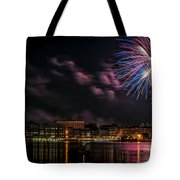 Portsmouth Nh Fireworks 2013 Tote Bag by Scott Thorp