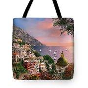 Positano Tote Bag by Dominic Davison