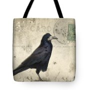 Post Card Nevermore Tote Bag by Edward Fielding
