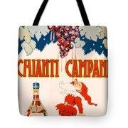 Poster Advertising Chianti Campani Tote Bag by Necchi