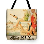 Poster Advertising Sunny Rhyl  Tote Bag by Septimus Edwin Scott