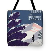 Poster Advertising The Canadian Ski Resort Jasper Tote Bag by Canadian School