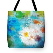 Pot Of Daisies 02 - J3327100-bl1t22a Tote Bag by Variance Collections
