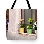 Potted Flowers 02 Tote Bag by Rick Piper Photography