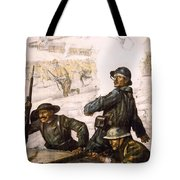 POUR LA VICTOIRE - W W 1 - 1918 Tote Bag by Daniel Hagerman