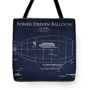 Power Driven Balloon Patent Tote Bag by Aged Pixel