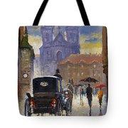 Prague Old Town Square Old Cab Tote Bag by Yuriy  Shevchuk