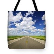 Prairie highway Tote Bag by Elena Elisseeva