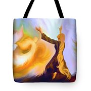 Praise Him Tote Bag by Susanna  Katherine