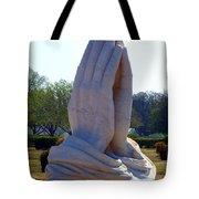 Praying Hands Statue Tote Bag by David G Paul