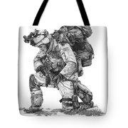 Praying  Soldier  Tote Bag by Murphy Elliott