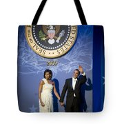 President And Michelle Obama Tote Bag by had J McNeeley