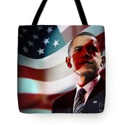President Barack Obama Tote Bag by Marvin Blaine