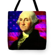 President George Washington V2 M123 Tote Bag by Wingsdomain Art and Photography
