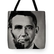 President Obama Meets President Lincoln Tote Bag by Doc Braham