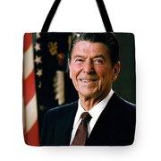 President Ronald Reagan Tote Bag by Mountain Dreams