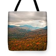 Presidential Range In Autumn Watercolor Tote Bag by Brenda Jacobs