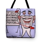 Presidential Tooth Dental Art By Anthony Falbo Tote Bag by Anthony Falbo