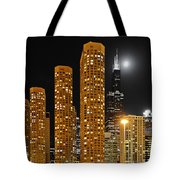 Presidential Towers Chicago Tote Bag by Christine Till