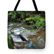 Pretty Green Creek Tote Bag by Kaye Menner