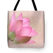 Pretty In Pink Lotus Blossom Tote Bag by Sabrina L Ryan
