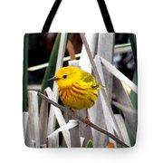 Pretty Little Yellow Warbler Tote Bag by Elizabeth Winter