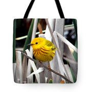 Pretty Little Yellow Warbler Tote Bag by Elizabeth Winter