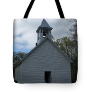 Primative Baptist Church In Cades Cove Tote Bag by Roger Potts