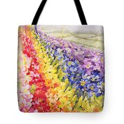 Primrose Rainbow Tote Bag by Joan Thewsey