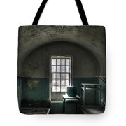 Prison Cell Tote Bag by Jane Linders