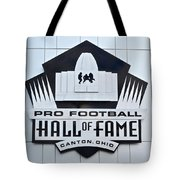 Pro Football Hall Of Fame Tote Bag by Frozen in Time Fine Art Photography